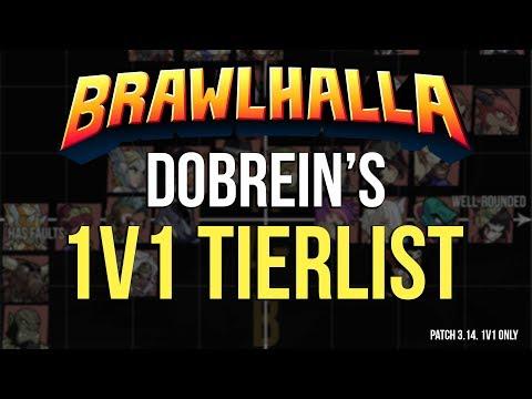 Brawlhalla -  Dobrein's 1v1 Tierlist
