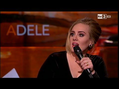 Adele - Che tempo che fa 06/12/2015