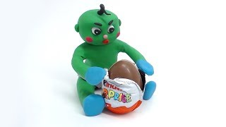BABIES SUPERHEROES OPENING SURPRISE EGG - Cartoon Stop Motion With Clay & Play Doh