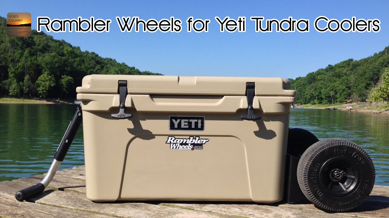 review and test rambler x2 allterrain wheels for yeti tundra coolers youtube