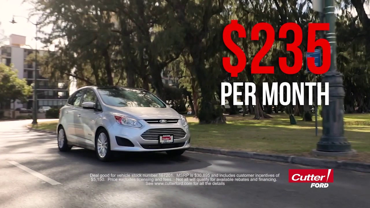 Cutter Ford Aiea >> Cutter Ford April 2017 Blowout Sale Deals On Focus F 150 C Max Energi