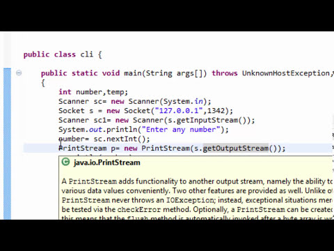Client Server Program In Using Sockets