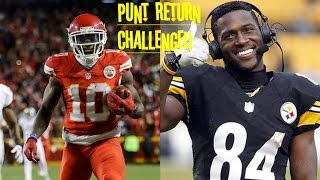 WHO CAN GET A PUNT RETURN TD FIRST?!? TYREEK HILL VS ANTONIO BROWN!! THEY'RE SO FAST!!
