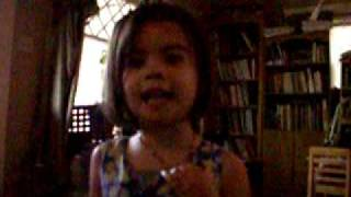 3 & 4 year old singing Loving You (Is Easy
