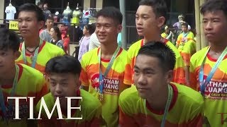 Thailand's Wild Boars Soccer Team Marks One Year Since Going Missing In A Cave | TIME