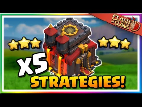 FIVE Top Level TH10 Attack Strategies | Clash Of Clans
