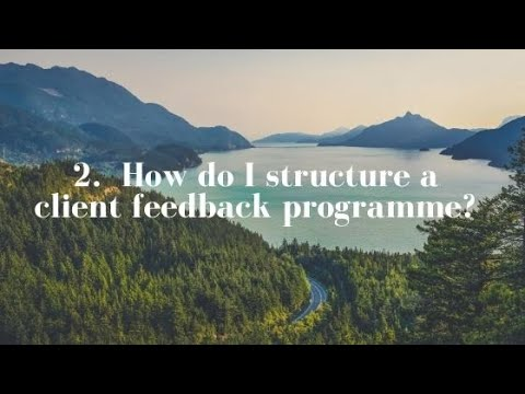 2. How do I structure a feedback programme?