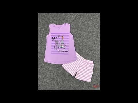 Đồ bộ Short cô gái xe đạp | chuyên bán buôn quần áo trẻ em thương hiệu HTKIDS