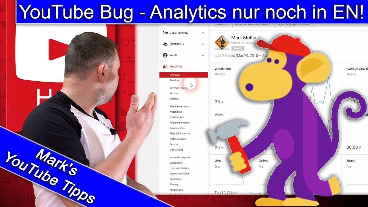 Youtube Bug Analytics Nur Noch In Englisch Verfügbar Youtube