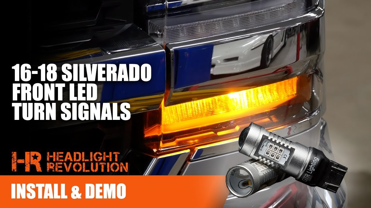 Super Bright Led Bulbs 16 18 Silverado Front Turn Signal Upgrade Install Instructions Headlight Revolution