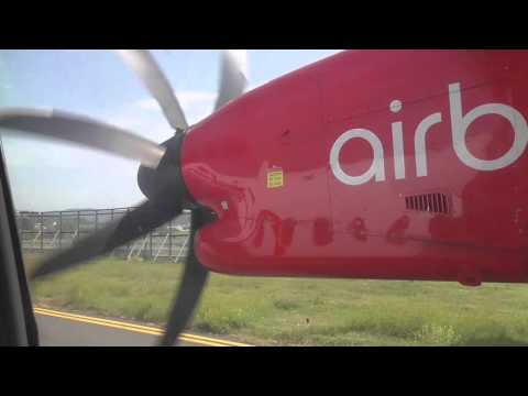 Air Berlin Q400 Takeoff From Florence