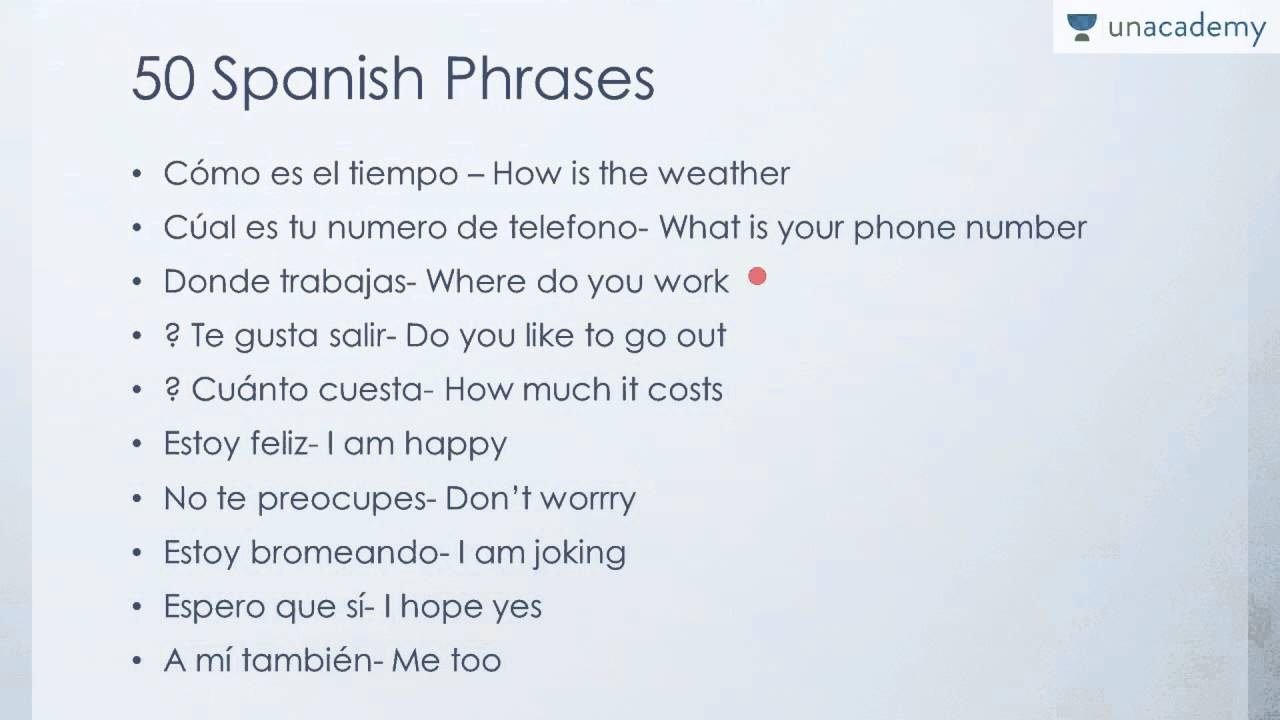 Learn Spanish: 150 Spanish Phrases for Beginners - YouTube