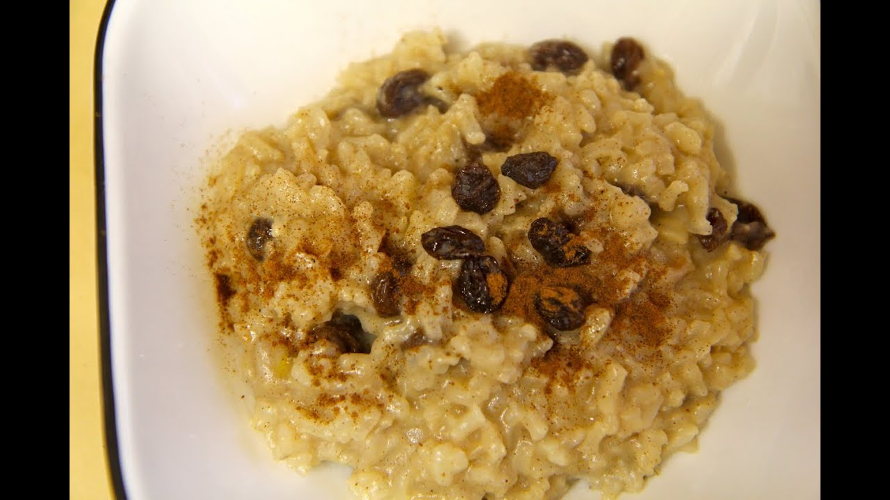 Vegan Rice Pudding Recipe with Raisins - Vegan Winter Recipes ...