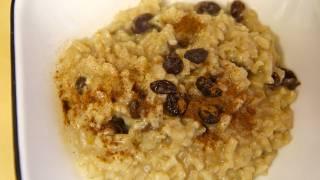 Vegan Rice Pudding Recipe with Raisins - Vegan Winter Recipes
