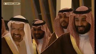 محمد بن سلمان يمازح الموظف  : لاتشرح لي الوزير خالد الفالح ناشب في حلوقنا