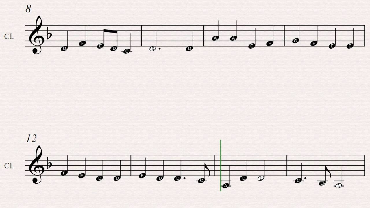 how to play clarinet notes for beginners