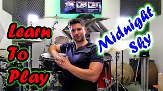 Drum Tutorial - Miley Cyrus - Midnight Sky