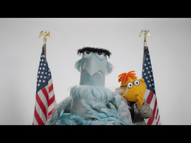 Happy Presidents Day from Sam Eagle and Scooter!   The Muppets