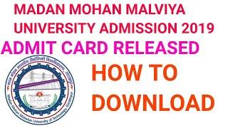 MMM UNIVERSITY ENTRAMCE EXAM ADMIT CARD 2019