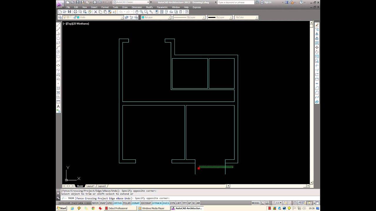 Basic AutoCAD Drawing Floor Plans