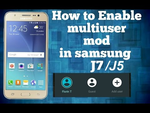 How To Get Multi User Support In Samsung Galaxy J7/J5 (2016)