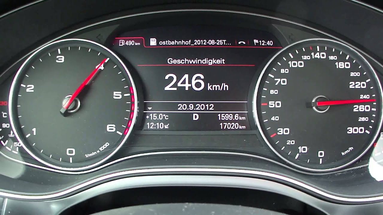 2012 audi a6 3 0 tdi top speed youtube. Black Bedroom Furniture Sets. Home Design Ideas