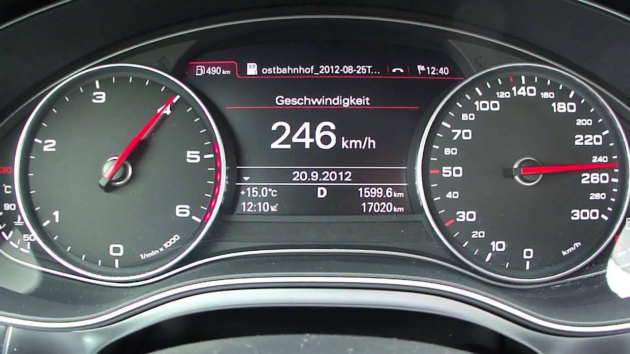 2012 Audi A6 3.0 TDI Top Speed - YouTube