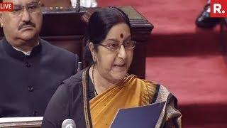 Sushma Swaraj Exposes Pak Lie On Kulbhushan Jadhav - Full Speech