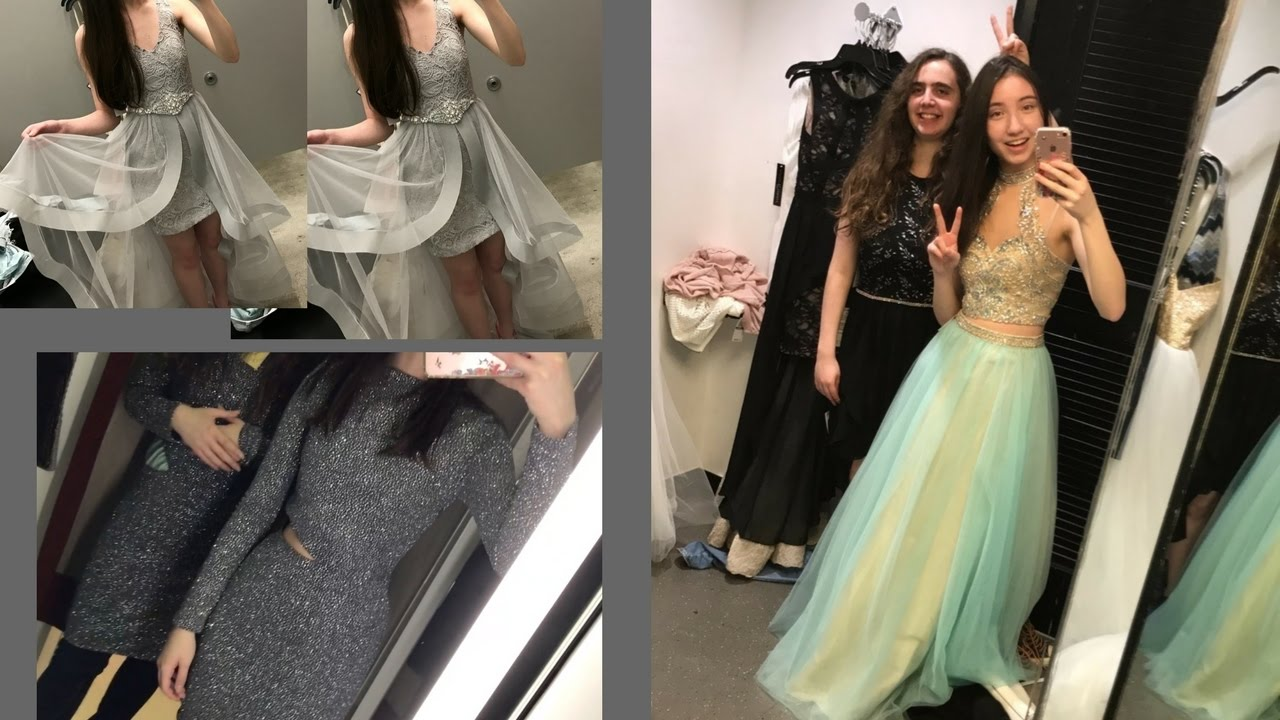 COME PROM DRESS SHOPPING WITH ME (Macy\'s, H&M, and more!) Junior ...