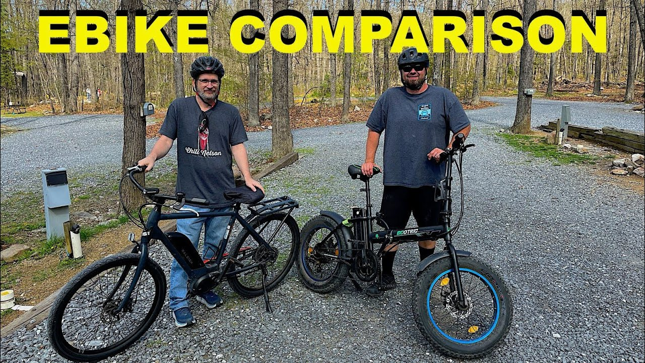 Electric Bike Comparison, Ecotric Folding Ebike & Raleigh Sprite Ebike, With Chickery's Travels