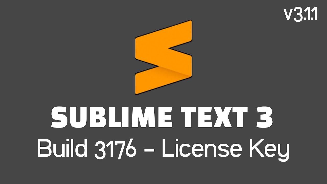 Sublime Text 3 Build 3176 License Key (100% Work) - Tutorial #1