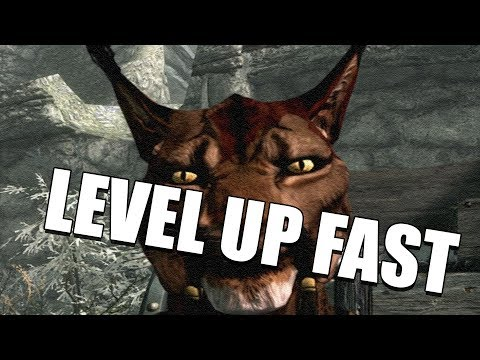 How to Level up SUPER FAST in Skyrim