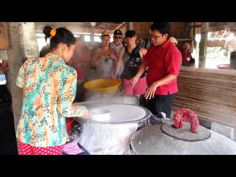 How rice noodles are made