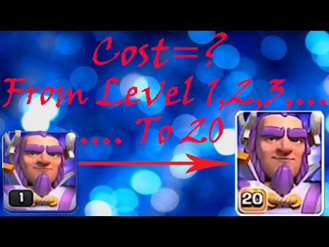Grand Warden Upgrade Cost (Elixir and Gems) 🔶 Clash of Clans 🔶 CoC