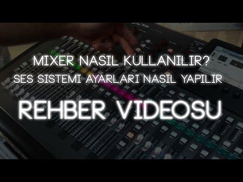 Mixer Nasıl Kullanılır? Ses Sistemi Ayarları Nasıl Yapılır? Behringer 1832FX