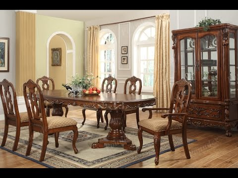 Furniture- Luxurious Formal Dining Room Tables That Made of Solid Wood