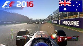 F1 2016 - 100% Race at Albert Park Street Circuit, Australia in Ricciardo's Red Bull