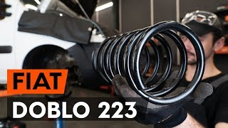 Como substituir molas de suspensão dianteira no FIAT DOBLO 1 (223) [TUTORIAL AUTODOC]