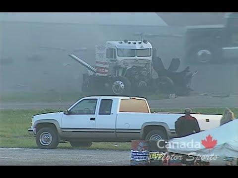 Huge Big Rig Race Crash! June 2002 Calgary