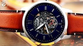 Đồng hồ Fossil #27   Review đồng hồ Fossil ME3154 thiết kế skeleton lộ cơ độc đáo và mặt số lịch lãm