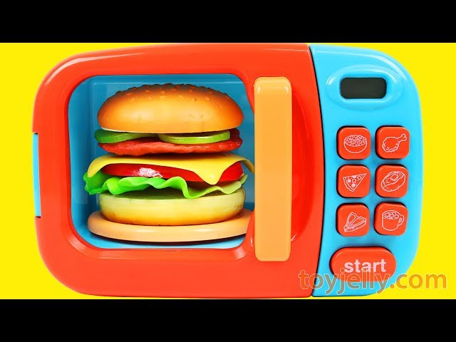 Play Doh Hamburger Playset Learn Fruits & Vegetables with Velcro Baby Toys for Kids Children