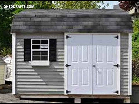 12x16 Gambrel Storage Shed Plans Blueprints For Assembling A Sturdy Barn Shed