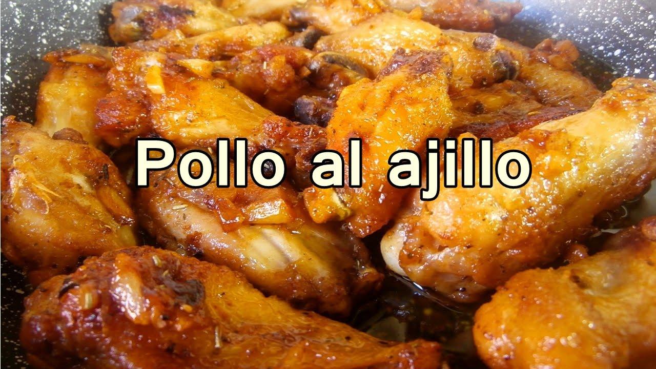 Alitas de pollo frito al ajillo tradicional recetas de for Comidas caseras faciles