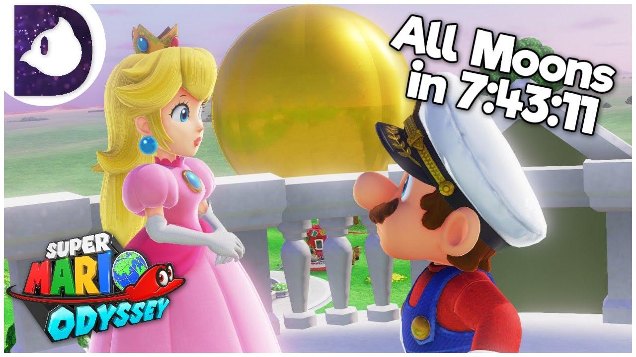All Moons Speedrun in 7:43:11 - Super Mario Odyssey