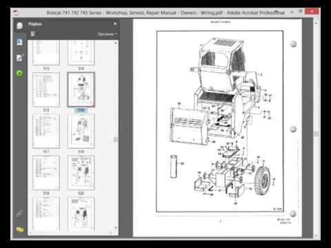 hqdefault bobcat 741 742 743 series workshop, service, repair manual Bobcat 873 Wiring Harness Diagram at bayanpartner.co