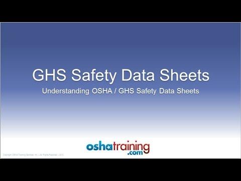 Free OSHA Training Tutorial - Understanding GHS Safety Data Sheets (SDS's)