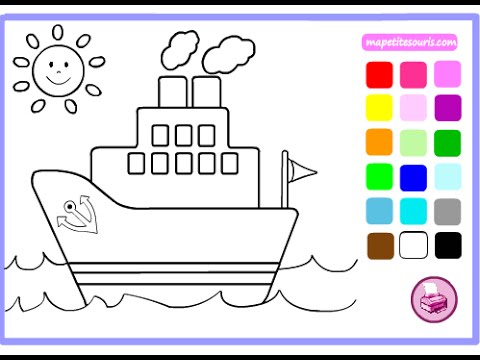 Boats Coloring Pages For Kids