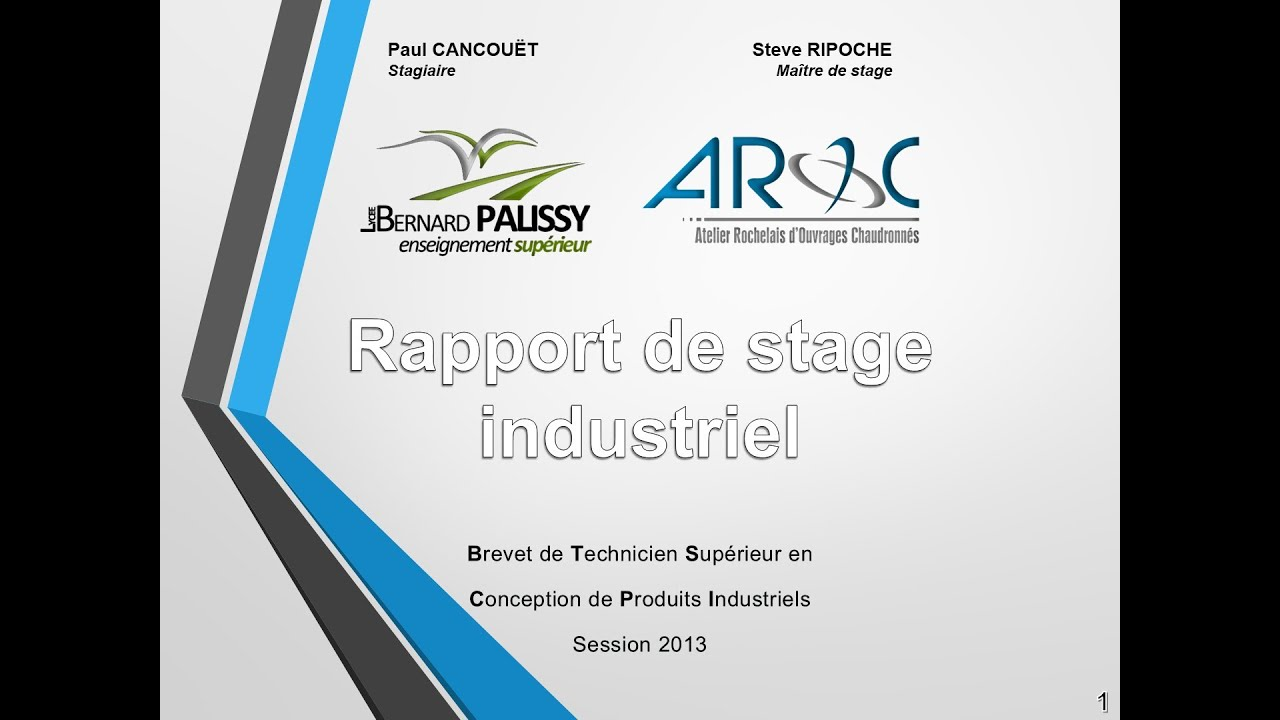 Aroc Soutenance Du Rapport De Stage Industriel