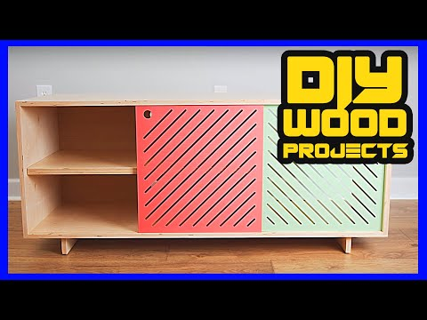 DIY WOOD PROJECTS I HOW TO MAKE A TV STAND OR MEDIA CONSOLE