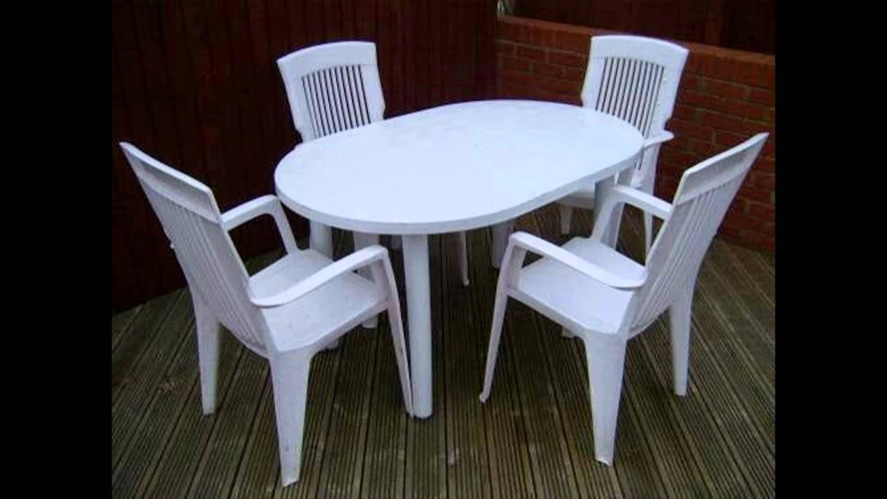 outdoor plastic table and chairs - youtube